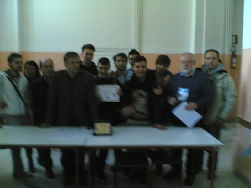 Squadra Liceo A. Manzoni Vincitrice della categoria scuola sec. II° grado Juniores
