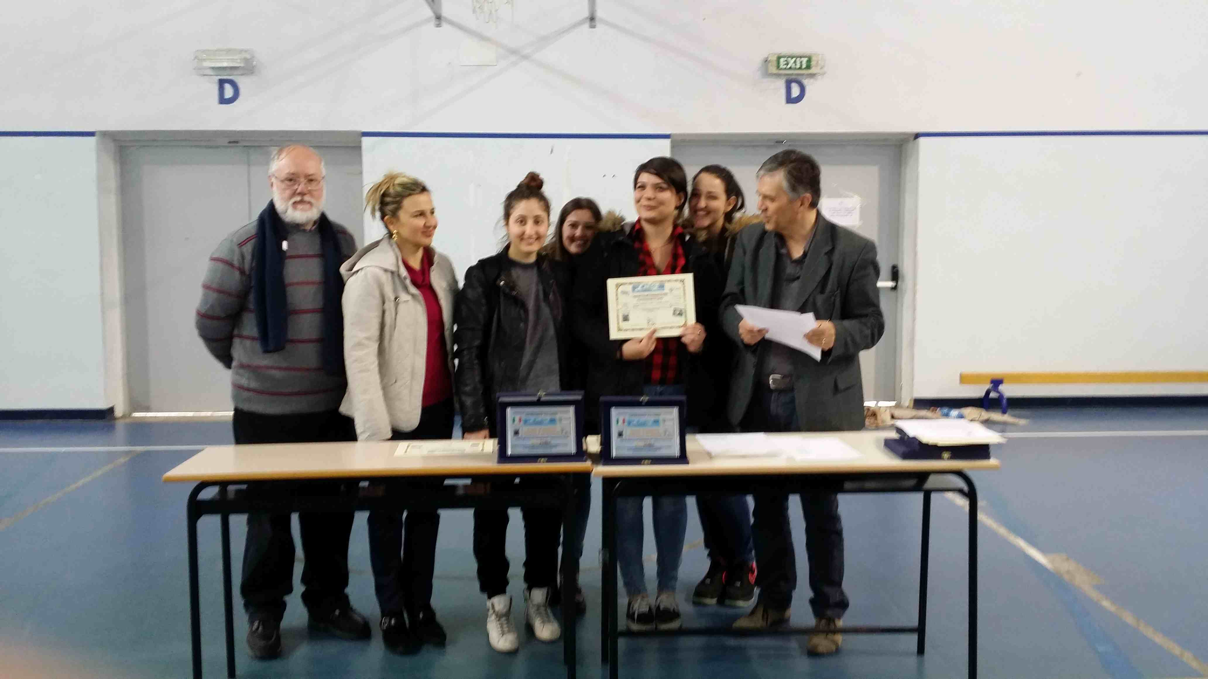 2° Classificata Sec. Ii grado Jun. Femminili Liceo Scientifico S. PIZZI CAPUA