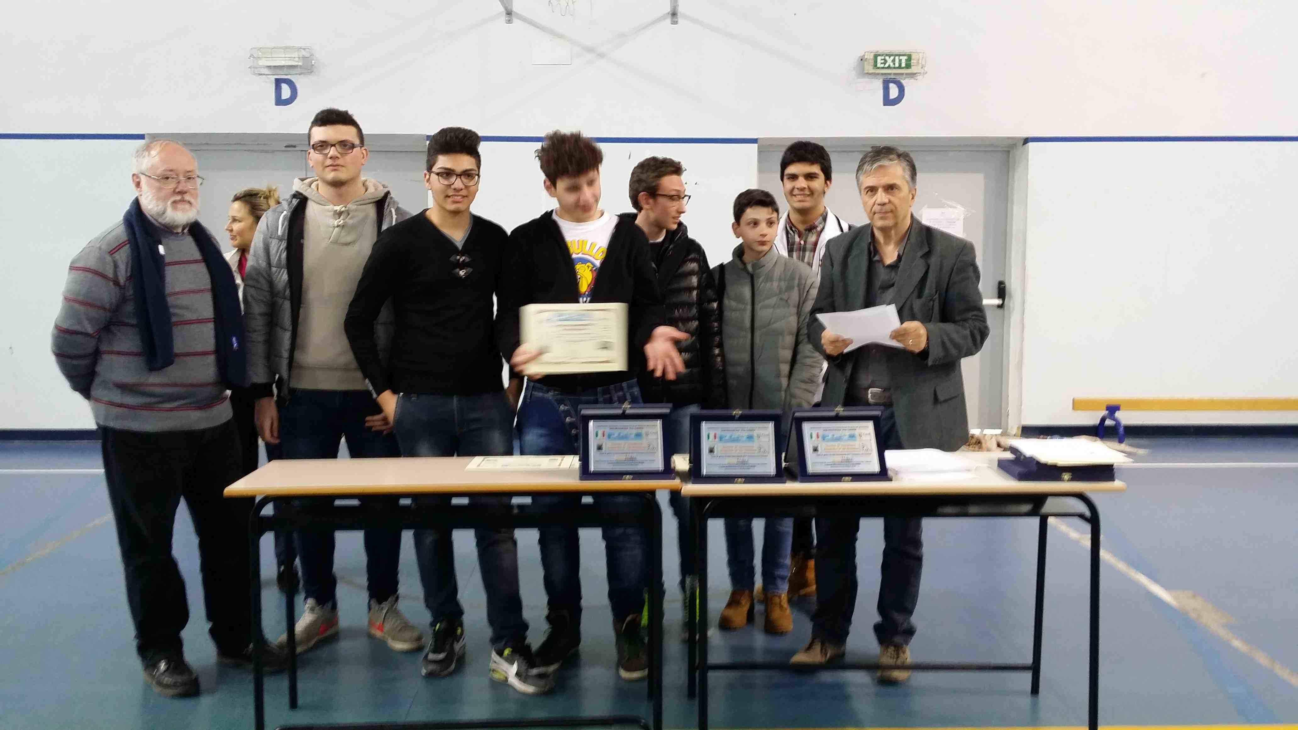 2° Classificata Liceo Scientifico PIZZI Cat. Sec. I° Allievi CAPUA
